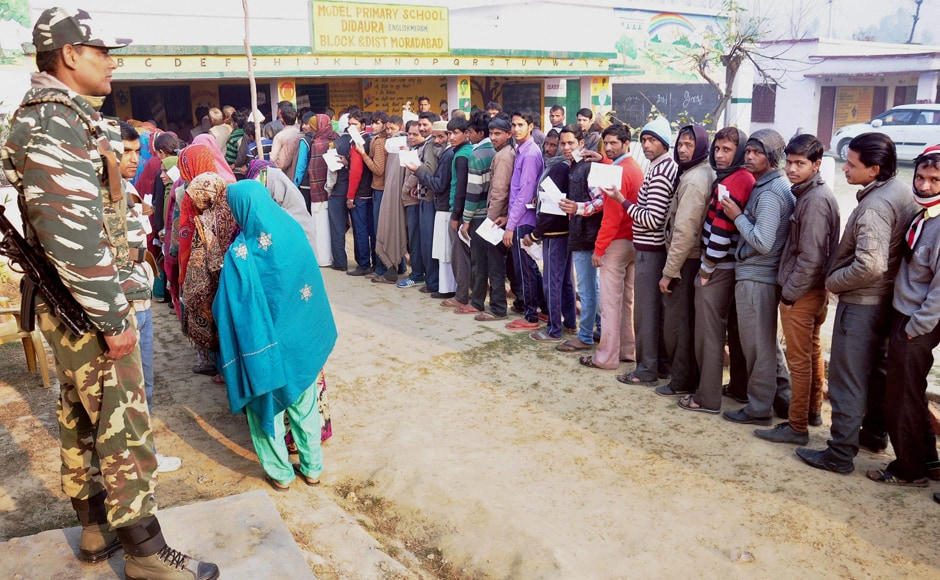 In the second of the seven-phase polling, 2.28 crore voters, including over 1.04 crore women, are eligible to cast their ballots at 14,771 polling centres and 23,693 polling stations. PTI