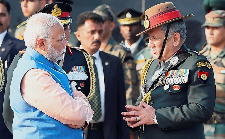 On the occasion, Army Chief Gen Bipin Rawat briefed Prime Minister Modi on the encounters in which the casualties took place. PTI