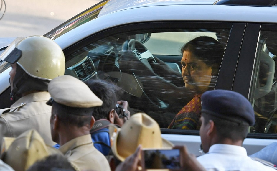 Driving from Chennai straight to the court, 60-year-old Sasikala appeared before the special court judge Ashwathnarayana, as the Supreme Court refused to give her a breather rejecting her request for more time to surrender. PTI
