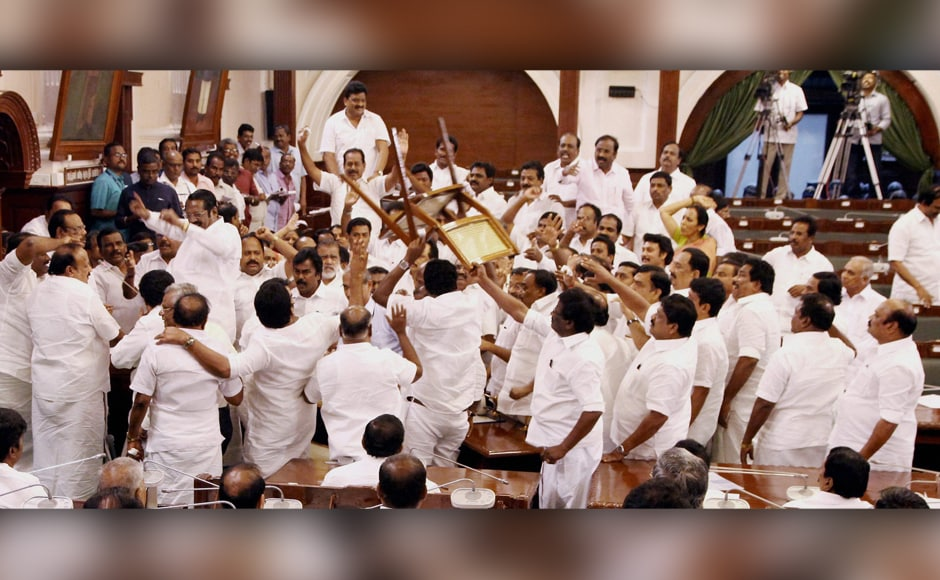The E Palaniswami government won the confidence motion amid ruckus in the Tamil Nadu Assembly on Saturday. While Palaniswami won the backing of 122 legislators, O Panneerselvam camp could barely manage 11 MLAs to vote in its favour. PTI