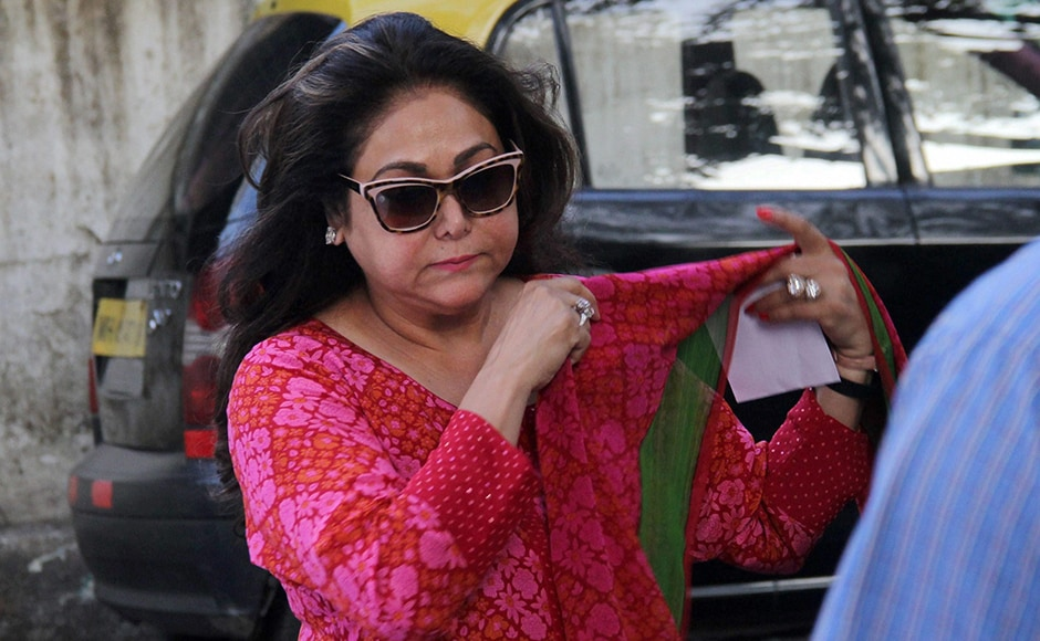 Tina Ambani arrives at Dunn's Institute to cast her vote for the Mumbai Corporation Election in Mumbai on Tuesday. PTI