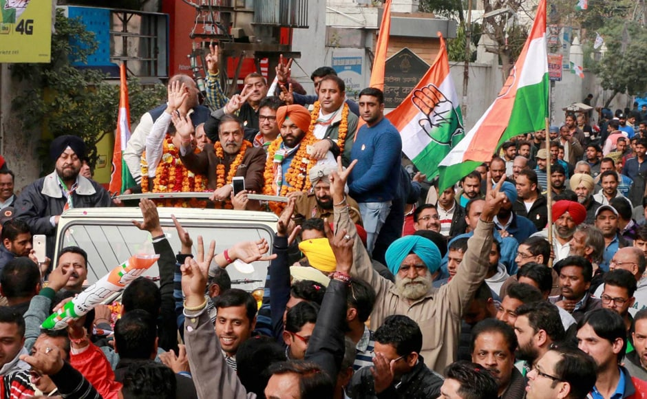 Congress leader and former Union Cabinet Minister Anand Sharma's road show got overwhelming response in Amritsar. A resurgent Congress, which is hoping for a pan-India revival if it is able to come back to power in Punjab. PTI