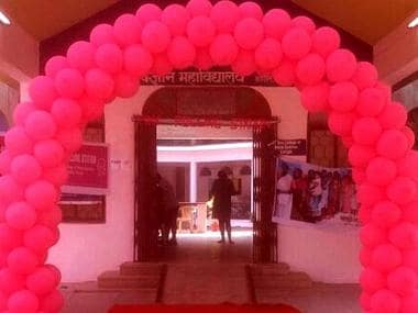 The polling booths were also decorated with pink balloons. CNN-News18