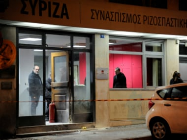 Syriza party headquarters in Athens, Greece. Reuters