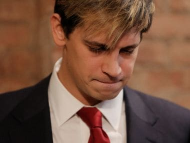 Milo Yiannopoulos addresses the media during a news conference in New York City. Reuters