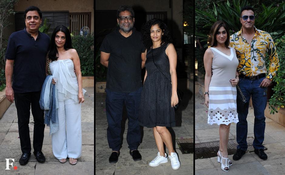 Ronnie-Screwala with Wife, R Balki and Gauri Shinde, Mohd Morani and wife. Sachin Gokhale/Firstpost