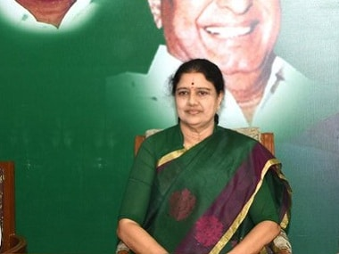 File image of VK Sasikala. Twitter @AIADMKOfficial