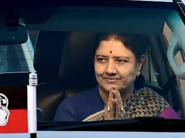 VK Sasikala. File photo. PTI