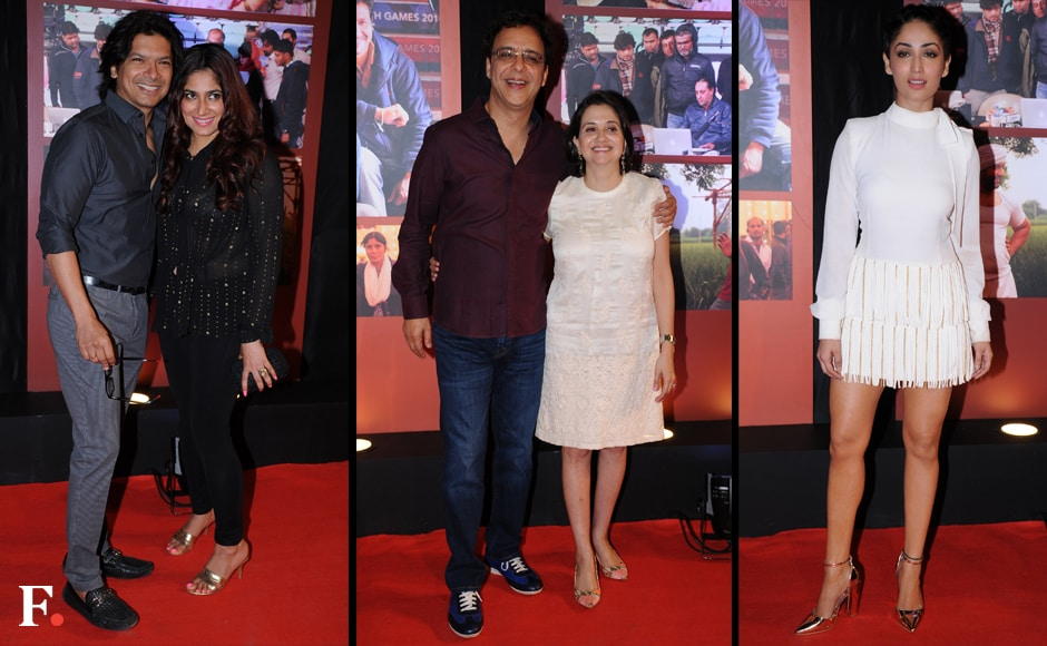 Shaan with his wife, Vidhu Vinod and Anupam Chopra, Yami Gautam. Sachin Gokhale/Firstpost