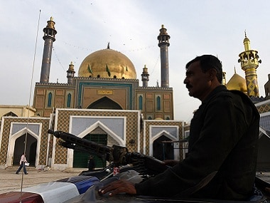 The 13th century Muslim Sufi saint Lal Shahbaz Qalandar's shrine. AFP