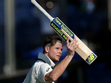 Steve Smith during the first Test against India. Reuters
