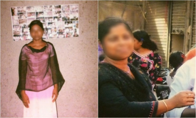 (Left) The woman was rescued from a brothel in 2013. (Right) Sonali. Firstpost/Annaya Sarkar