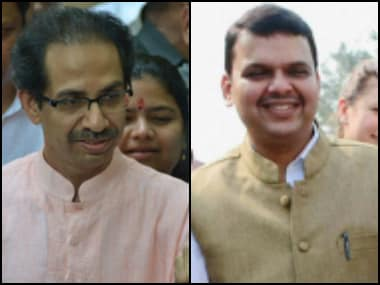 Shiv Sena chief Uddhav Thackeray and Maharashtra chief minister Devendra Fadnavis. PTI