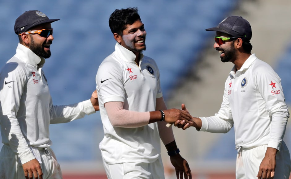 Umesh Yadav was the pick of the Indian bowlers in the first innings, recording figures of 4/32. AP
