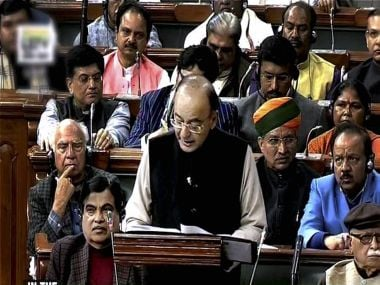 Finance Minister Arun Jaitley tabling the Union Budget for 2017-18 in the Parliament. PTI