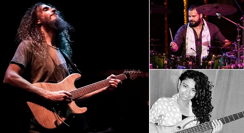 (Clockwise from above left) Guthrie Govan, Gino Banks, Mohini Dey