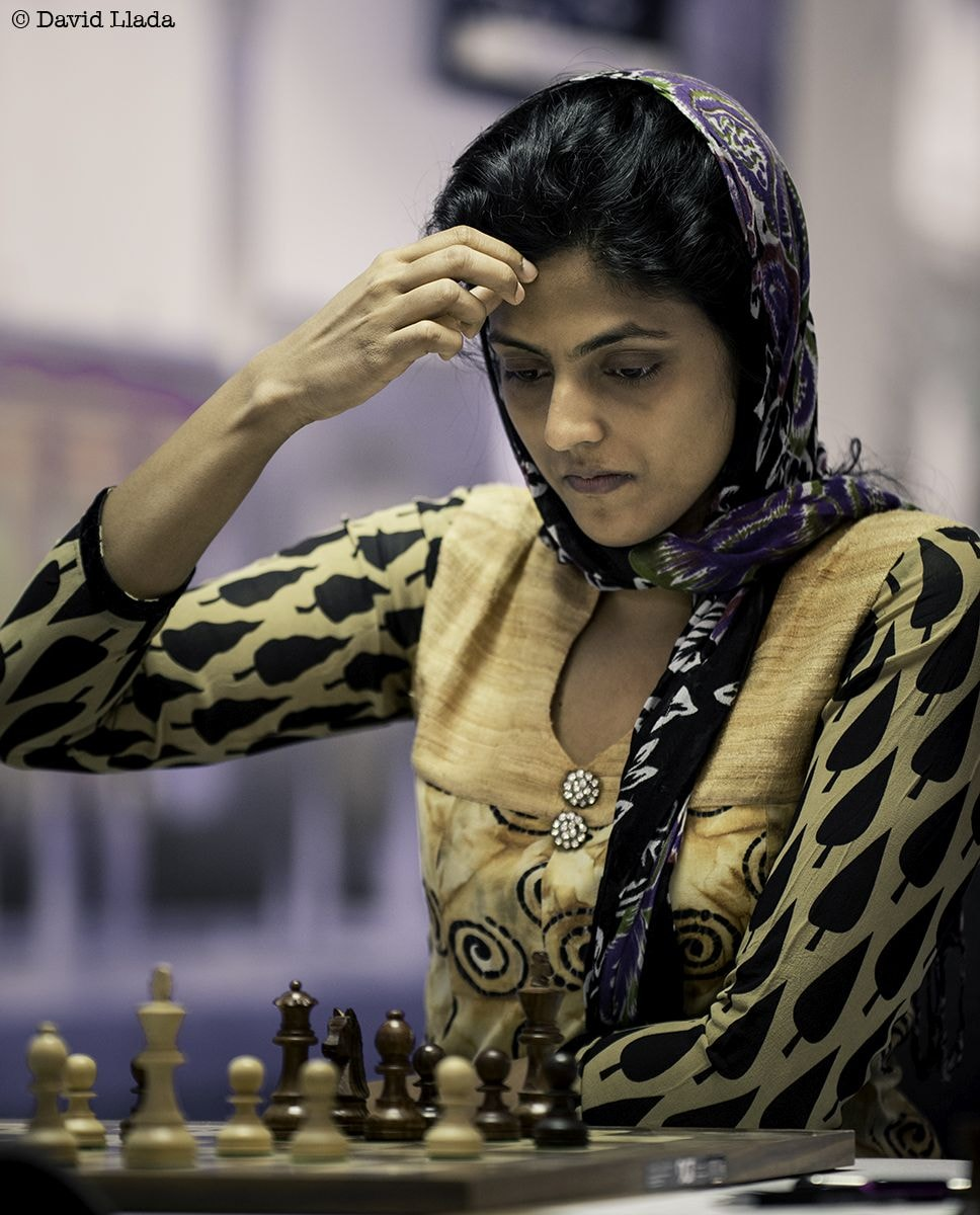 With grit and determination, Harika had reached the quarter-finals of the Women's World Championship 2017. Image courtesy: David Llada
