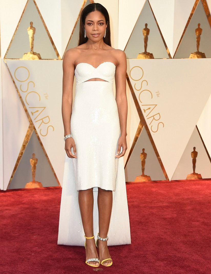 Naomie Harris arrives at the Oscars on Sunday, Feb. 26, 2017, at the Dolby Theatre in Los Angeles. (Photo by Jordan Strauss/Invision/AP)