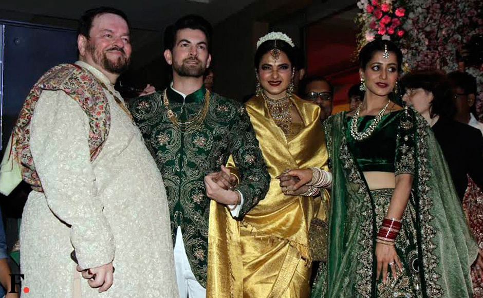 Bollywood actor Neil Nitin Mukesh tied the knot with Rukmini Sahay, in a traditional wedding ceremony in Udaipur on 9 February 2017. The gorgeous couple hosted a lavish wedding reception for their Bollywood friends and family members on Friday evening (17 February). Image: Sachin Gokhale/Firstpost