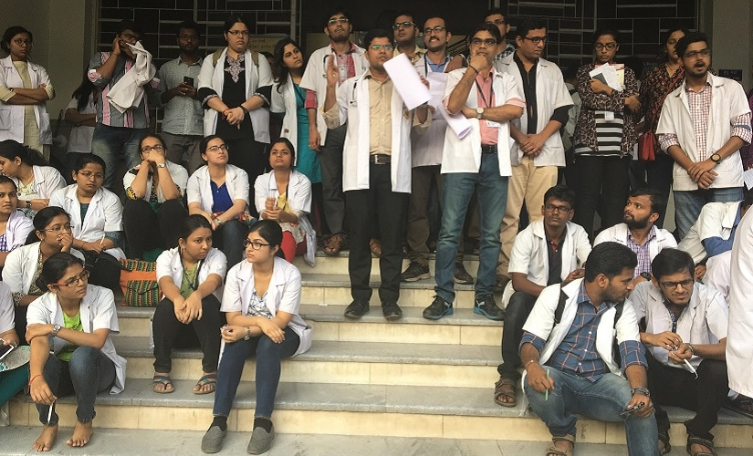 More than 4,000 resident doctors in Maharashtra's government hospitals are protesting incidents of attack on their colleagues. Firstpost/Prachee Kulkarni