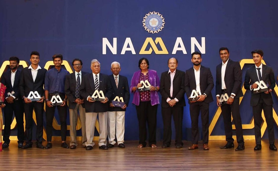 All the awardees during the BCCI annual awards on Wednesday. Image courtesy: BCCI