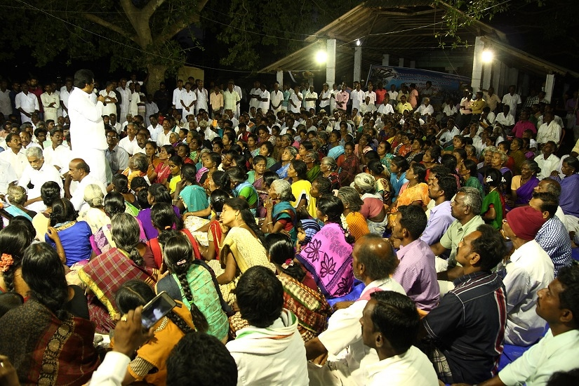 Women farmers formed a majority of the protestors and they stayed on even after sunset