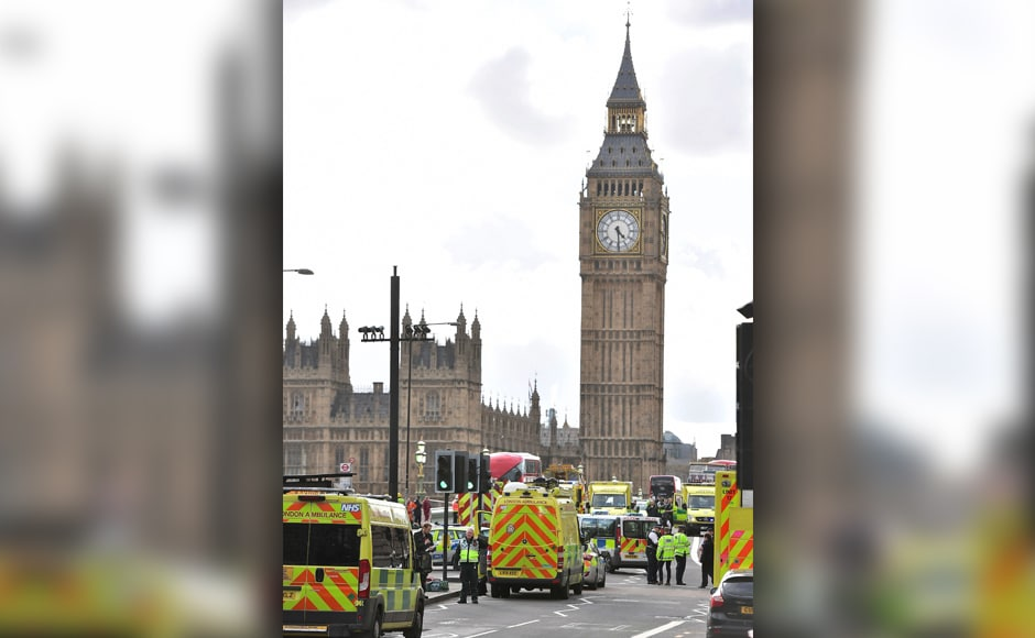 """London has been a target for terrorism many times over past decades. Just this weekend, hundreds of armed police took part in an exercise simulating a """"marauding"""" terrorist attack on the River Thames. AP"""