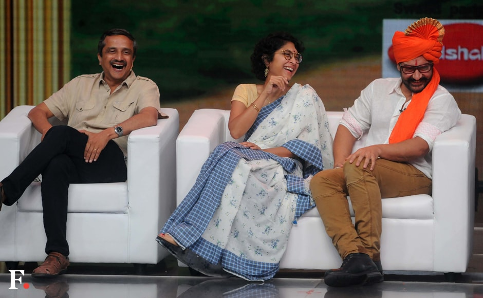 Aamir Khan and Kiran Rao share a light moment. Sachin Gokhale/Firstpost