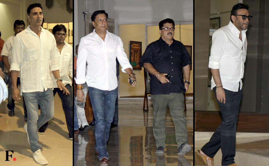 Akshay Kumar, Madhur Bhandarkar and Jackie Shroff. Sachin Gokhale/Firstpost