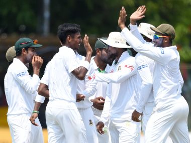 Mustafizur rahman starred for Bangladesh as they assumed a strong position in the 2nd test against Sri Lanka. AFP