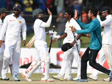 Bangladesh won the 2nd Test against Sri Lanka to level the series at 1-1. AFP