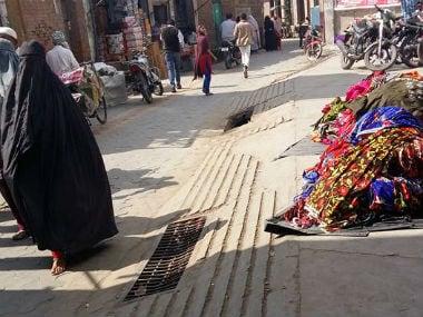 Muslim women wearing net-on-face burqa in the markets of Kairana, UP. Tufail Ahmad/Firstpost