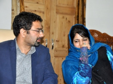 Tassaduq and Mehbooba Mufti. Firstpost/Sameer Yasir