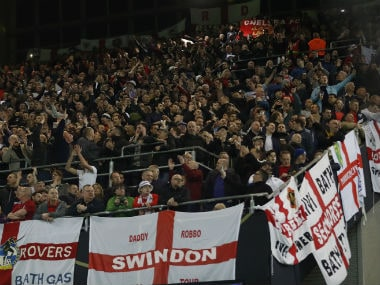 A section of English fans raised chants pertaining to the second World War during the match against Germany. Reuters