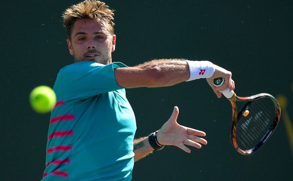 Stan Wawrinka broke Roger Federer once in the final but the latter eventually prevailed 6-4, 7-5. AP