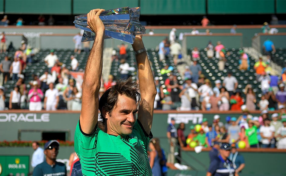 At 35 years and seven months, Roger Federer became the oldest champion in the desert tournament's history. AP