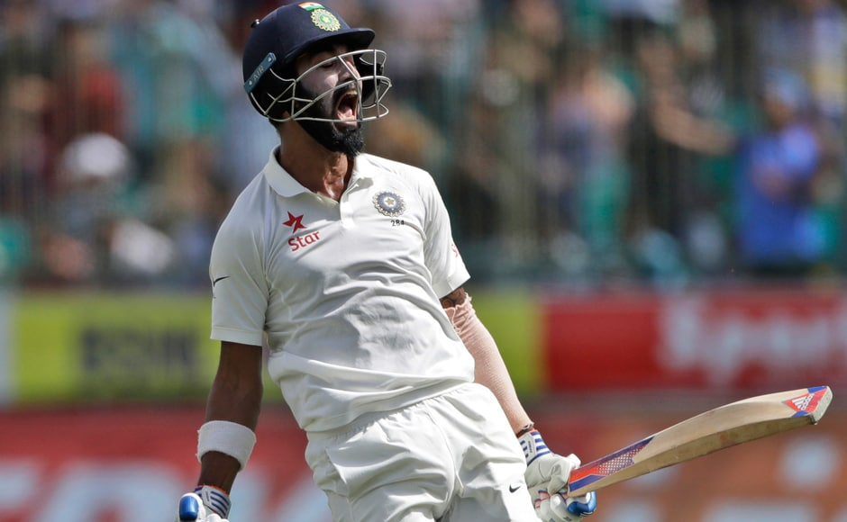 KL Rahul hit the winning runs and reached his fifth half-century of the series on the fourth day of the final Test. AP