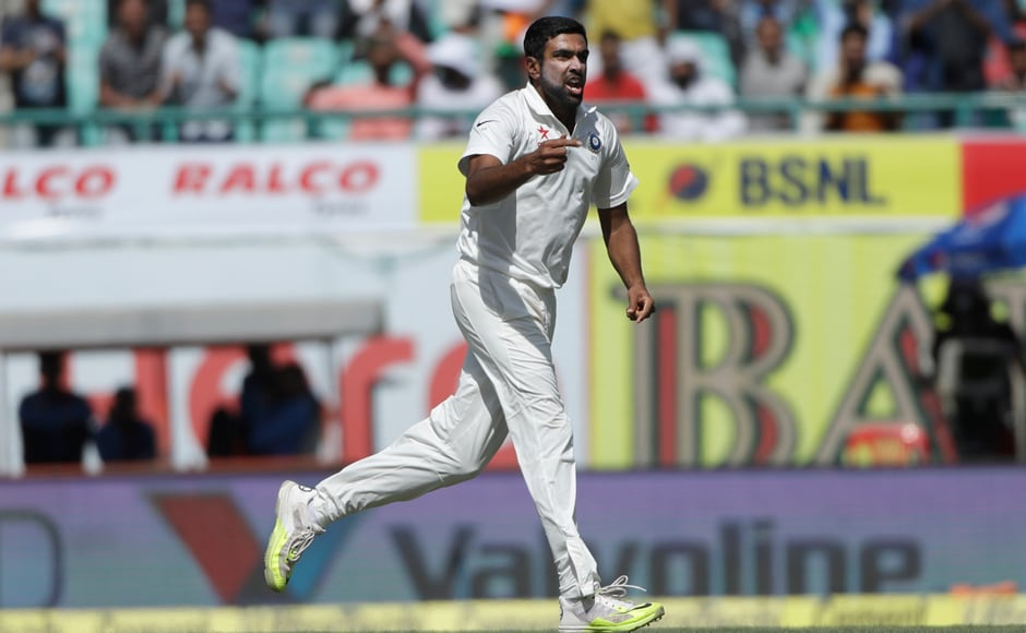 Ravichandran Ashwin enjoyed the wicket of Australia's Peter Handscomb during the third day, didn't he? AP