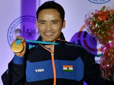Jitu Rai is back to his winning ways after winning the Men's 50m pistol event. PTI