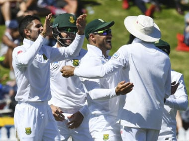 Keshav Maharaj's career-best spell guided hosts to an eight-wicket win over New Zealand. AP