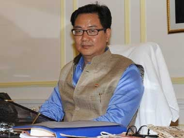 Minister of State for Home Kiren Rijiju. Image courtesy PIB