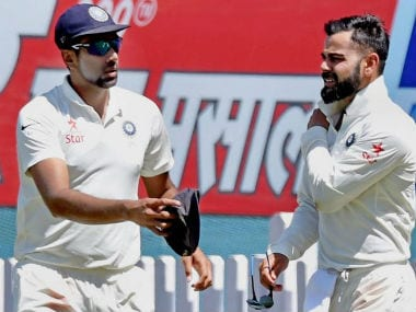Virat Kohli suffered a shoulder injury post-lunch on Day 1. PTI