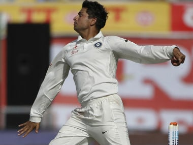 Kuldeep Yadav in action on Day 1 of the final Test between India and Australia. AP