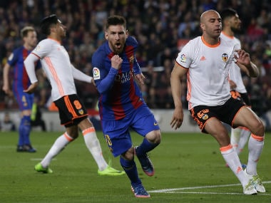 Lionel Messi's brace escaped Barcelona from a draw against Valencia. AP