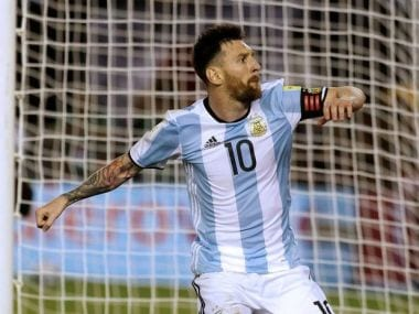 Argentina's Lionel Messi reacts after scoring a penalty against Chile. Reuters
