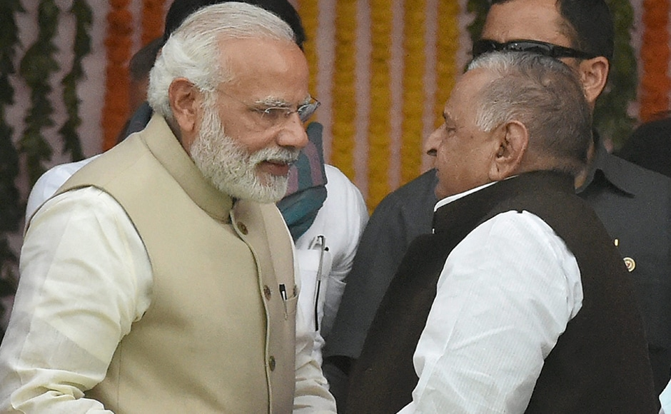 No, Mulayam, I really cannot make you Chief Minister, no matter how many times you say pretty please: Narendra Modi. PTI