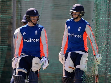 File photo of Eoin Morgan and Joe Root. Getty Images