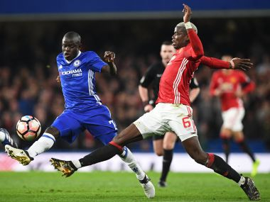 N'Gola Kante had another fantastic night in a Chelsea shirt as they knocked Manchester United out of the FA Cup. AFP