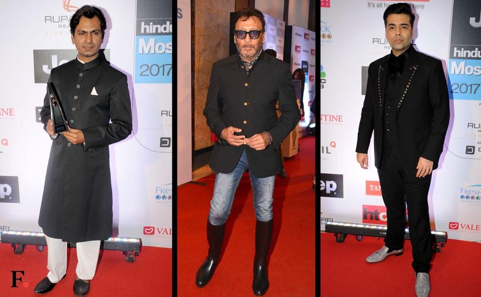 Nawazuddin Siddiqui, Jackie Shroff & Karan Johar. Sachin Gokhale/Firstpost