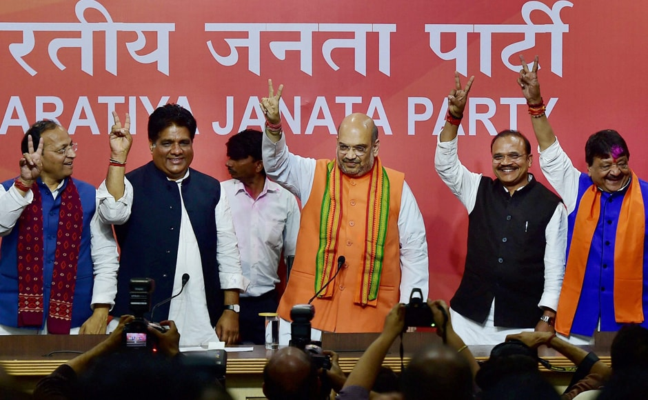 With party functionaries celebrating an early Holy in and outside the organisation's headquarters, a jubilant Shah told a packed press conference that the BJP Parliamentary Board will finalise the names of the chief ministerial nominees in its meeting on Sunday. PTI